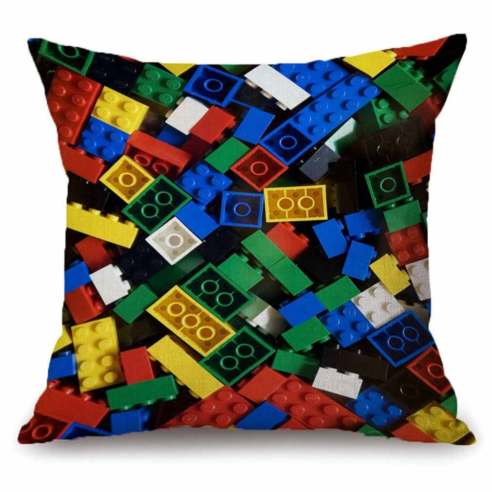 Lego Square Pillow Case Reversible Sequin Glitter Sofa Waist Throw Cushion Cover