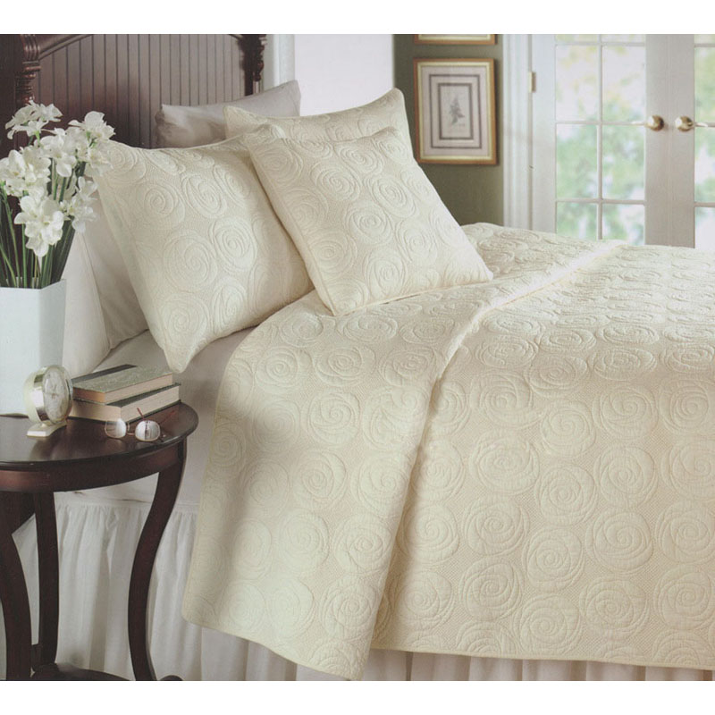 CHAUSUB French QUILT Set 3PCS Washed Cotton Quilts Bed Sheets ... : french quilted bed covers - Adamdwight.com