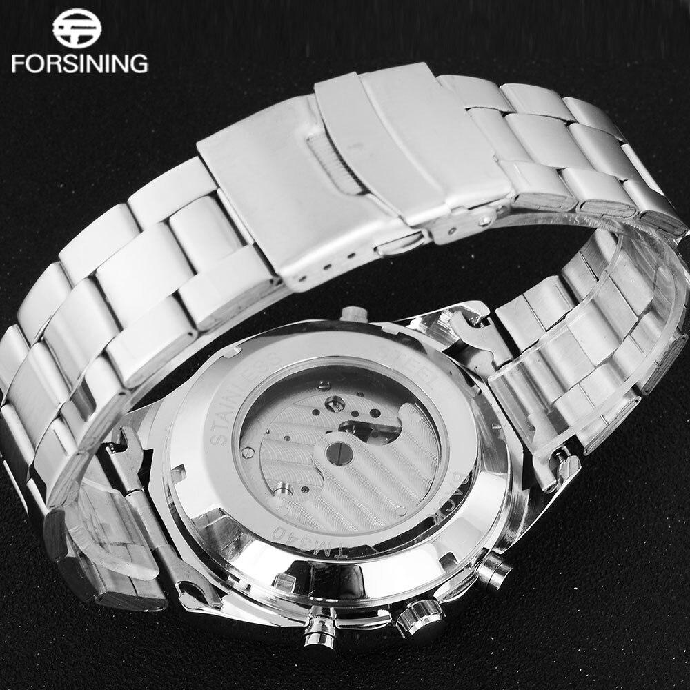 FORSINING hommes Top marque montre de luxe Tourbillon Auto mécanique montres Bracelet en acier inoxydable horloge Relogio Masculino - 3