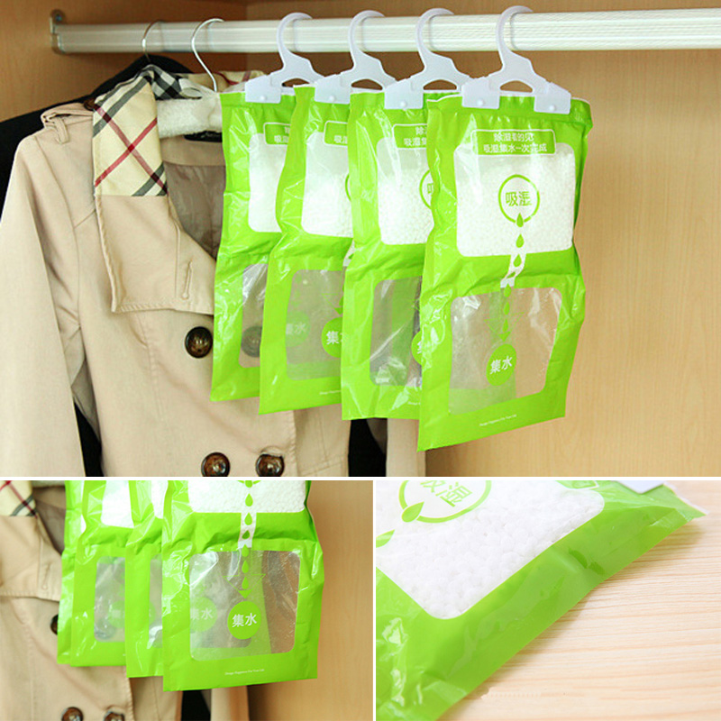 100g Hanging Drying Clothes Dehumidify Parts Home Wardrobe Dehumidifier Dry Bag Desiccant Dehumidifier