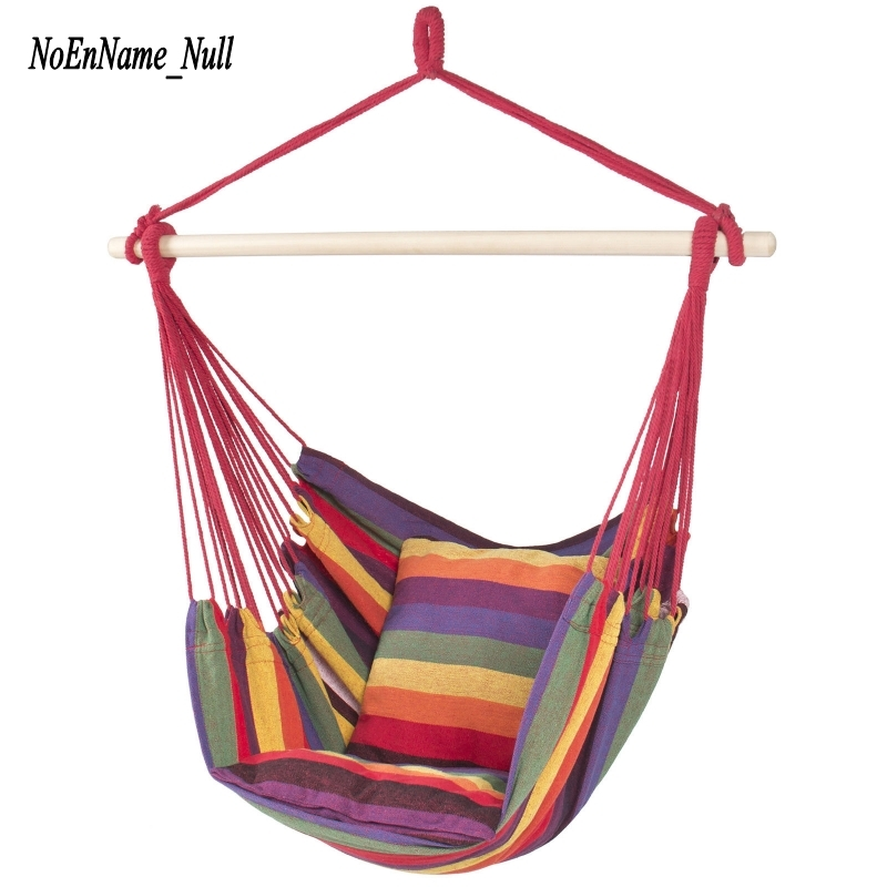 Portable Outdoor Hammock Swing Indoor Household Cradle Chair Dormitory Leisure Hanging Chair With 2 Cushions Hammocks Wholesale baby swing indoor hanging chair swing children bag brand export outdoor recreation leisure small swing chair
