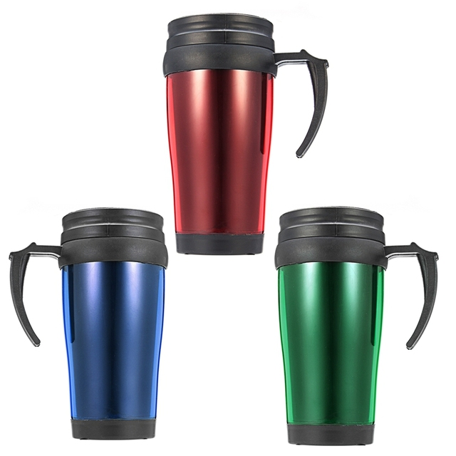 450ml Thermal Insulated Travel Coffee Mug Car Cup Flask Removable Lid Heating Water Bottle