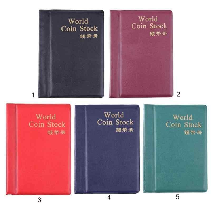 10 صفحة ملونة عملة كتاب البوم s بولي World العالم عملة كتاب البوم جمع تخزين جمع عملة أصحاب 120/180 جيوب