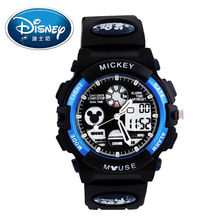Disney Kids Watch Men Watch Fashion Cool Quartz Digital Wristwatches Boys Sports Leather clock