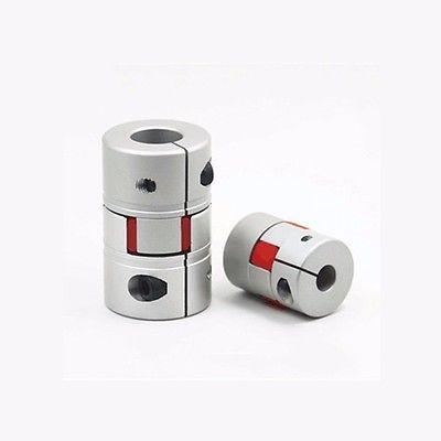 5*8mm D14 L22 Aluminium Polyurethane Clamping Flexible Shaft Coupling Coupler Encoder CNC Stepper Motor flexible shaft coupling od18mmx25mm cnc stepper motor coupler connector 6 35 to 8mm