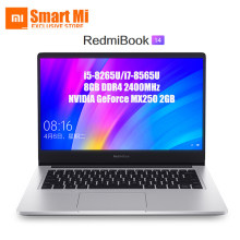 "אנגלית Xiaomi RedmiBook מחשב נייד 14 אינץ 14 ""FHD Ultra Slim i5-8265U/i7-8565U NVIDIA GeForce MX250 8GB RAM SSD אחסון Quad Core(China)"