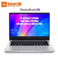 English Xiaomi RedmiBook Laptop 14 Inch 14 FHD Ultra Slim i5 8265U/ i7 8565U NVIDIA GeForce MX250 8GB RAM SSD Storage Quad Core