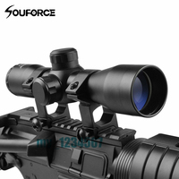 New Brand Tactical 4X32 Compact Scope Rangefinder Reticle Hunting Riflescopes Cross Hair Reticle Fits 20 Mm