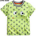 Little maven niños marca ropa de verano de los bebés ropa corta Hierba verde de la manga t camisas de Algodón estrella de impresión tee tops T034