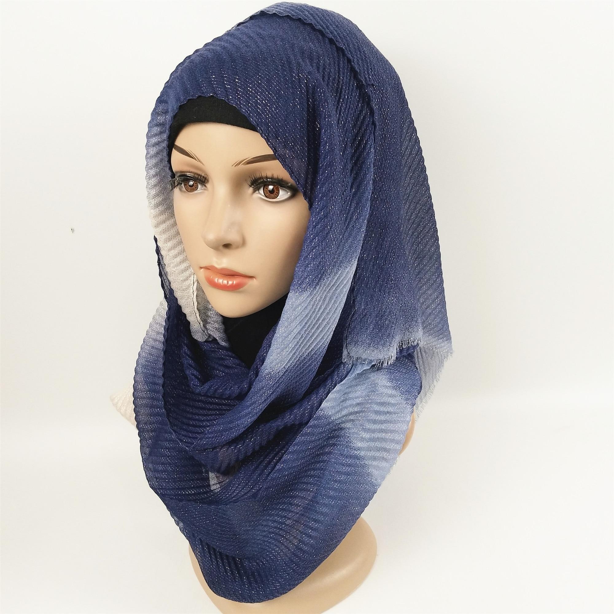 Big Sale¢Women Scarf Shawl Hijab Headband Glitter Wrap Ombre 100pcs with 1lot Crinkle Lady