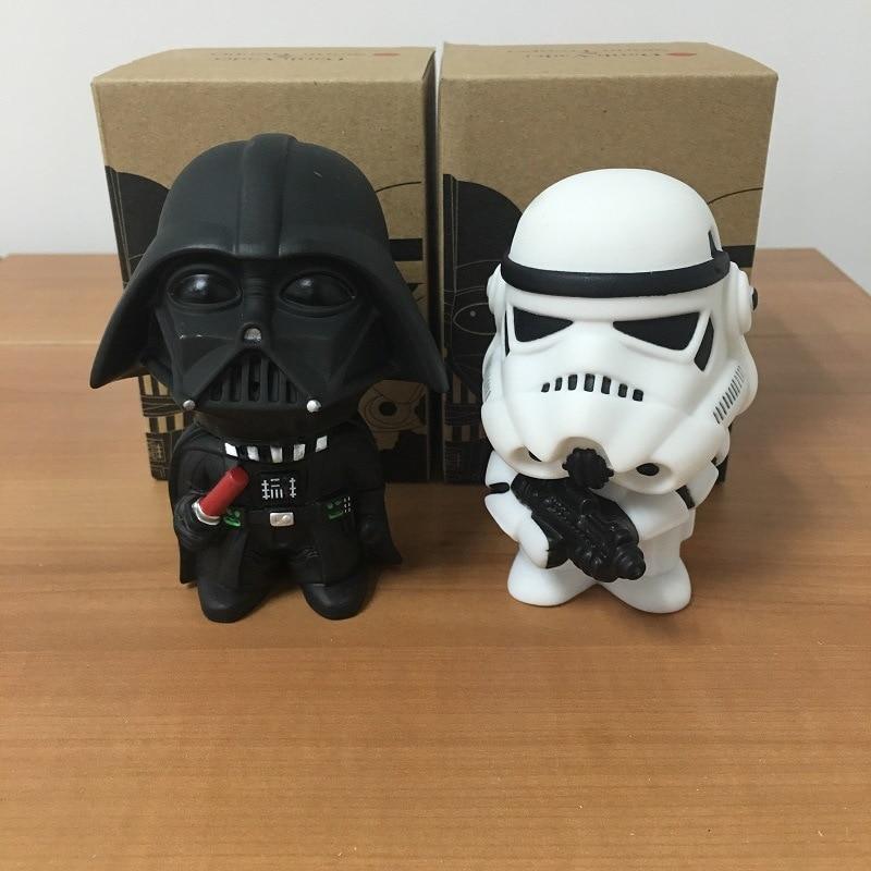 2pcs/set 2015 New Star Wars Figures toy Black Knight Darth Vader Stormtrooper PVC Action Figures DIY Educational TOYS for kids