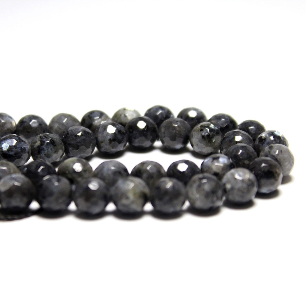 Faceted Black Spectrolite Natural Stone Beads For Jewelry Making Diy Bracelet Necklace 4/6/8/10/12 Mm Strand 15 Wholesale Aaa Jewelry & Accessories