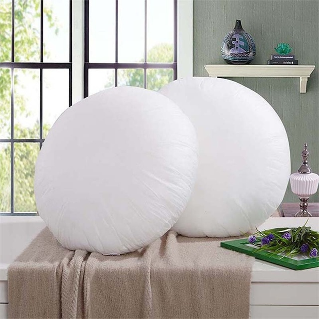 Round Throw Pillow Inner Core Non Woven Fabrics For Cushions Insert Filling  Pillow Filler Sofa