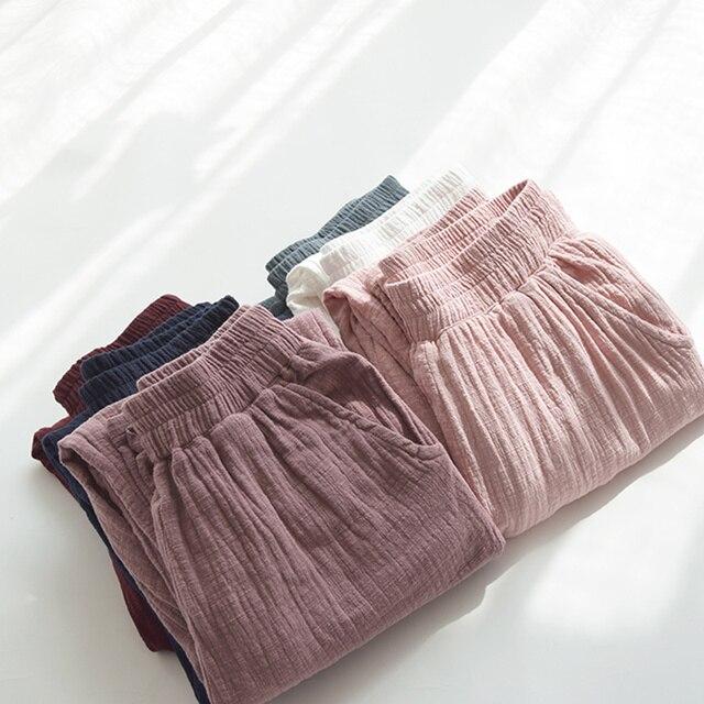 Retro Cotton Linen Trousers Women Spring Summer Casual Elastic Waist Straight Women Pants Pantalon Femme Long Sweatpants C5286 2