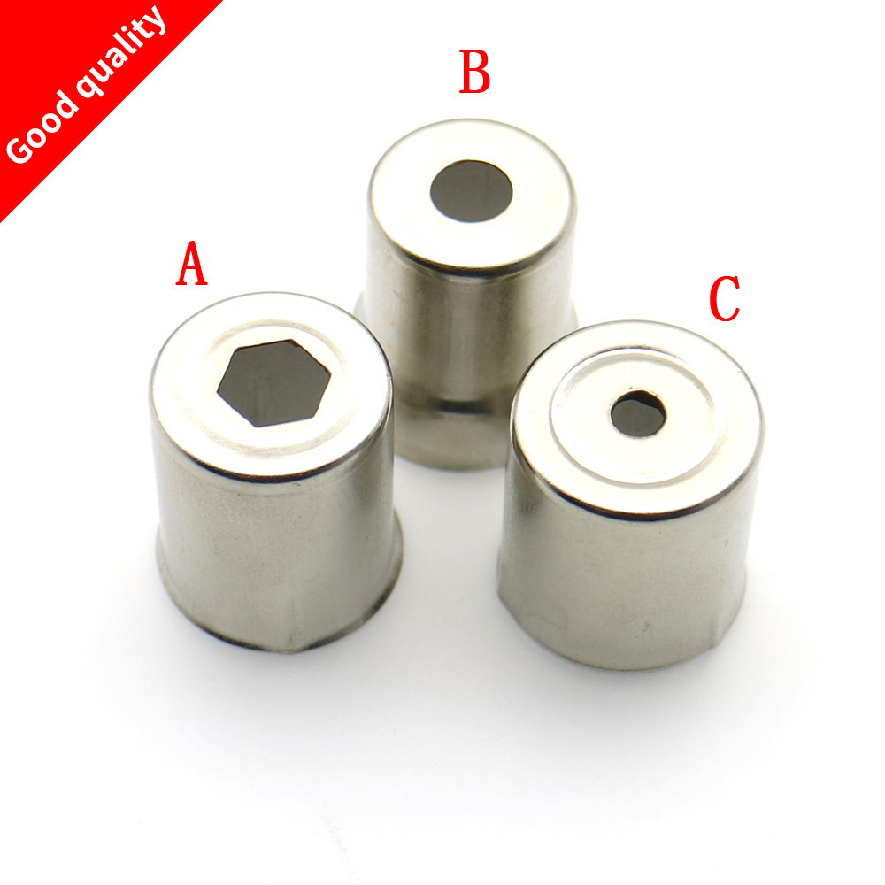 5Pcs/Set Steel Cap Microwave Oven Replacement Round Hole Magnetron Cap Silver Tone