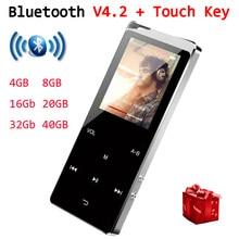 MP3-плеер Bluetooth музыкальный плеер сенсорный ключ Встроенный 8 Гб 16 Гб HiFi Металлический Мини Портативный Walkman с радио FM Запись MP4