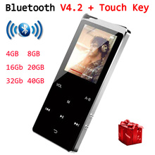 цена на 2019 Multi-languages Music Player Bluetooth MP3 MP4 Speaker Support TF Card Voice Recording FM Radio Touch Key 40GB Video Player