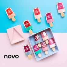 NOVO Brand 6 Colors batom Super Ice Cream Lip Gloss Waterproof Long Lasting Make
