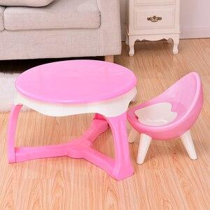 Image 3 - Spożywczy gruby plastikowy materiał przyjazny dla środowiska krzesło dziecięce stołek dziecięcy mały taboret meble dziecięce