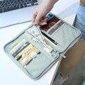 Marca Pasaporte Cartera De Viaje Multifunción Impermeable Paquete de la Tarjeta de Crédito ID Titular de Almacenamiento de los Viajes Ocasionales Bolsa de abonados