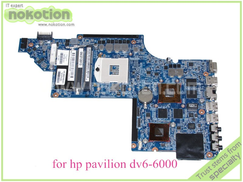 NOKOTION 705188-001 laptop motherboard for hp pavilion DV6 DV6-6000 main board HD3000 Radeon graphics for hp pavilion dv6 6000 notebook dv6z 6100 dv6 6000 laptop motherboard 650854 001 main board ddr3 hd6750 1g 100