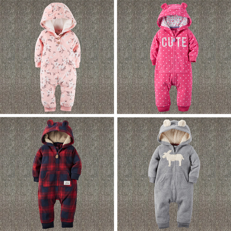 Newborn Baby Romper Knit Baby Clothes Baby Winter Snowsuit  Newborn Bebes Hooded Clothes Long Sleeves Boys Jumpsuit Coverall puseky 2017 infant romper baby boys girls jumpsuit newborn bebe clothing hooded toddler baby clothes cute panda romper costumes