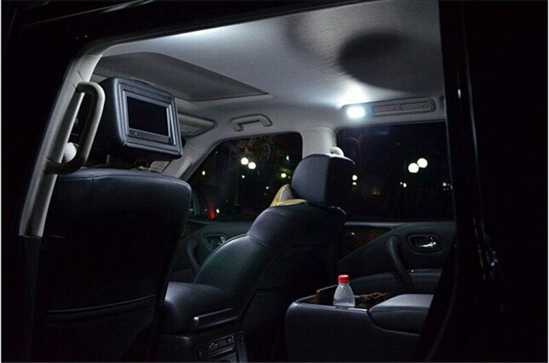 6pcs  for Toyota Corolla 2003-2008 2009 2010 2011 2012 2013 Car LED  12v Parking LED Interior light bar kit for nissan qashqai 2008 2009 2010 2011 2012 2013 car inner decoration trim