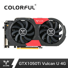 Colorful NVIDIA GTX 1050Ti Graphics Card GeForce iGame GTX1050Ti Gaming Video Cards 4GB GDDR5 128bit PCI-E 3.0 GPU For PC Games(China)
