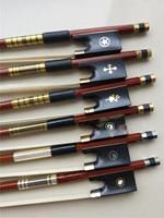 1 PC Violin Wood Bow 4/4 Brazil Wood Violin Bow Ebony Frog Hawksbill Frog White Stallion Horse Tail Hair