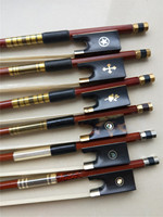 1 PC Violin Wood Bow 4/4 Brazil Wood Violin Bow Ebony Frog Hawksbill Frog White Stallion Horse Tail Hair