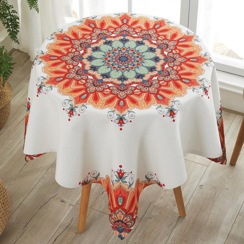 Small Round Table Cloths.Us 25 57 23 Off Ins Ethnic Floral Round Tablecloths Waterproof Anti Hot Anti Oil Disposable Small Round Table Cloth Tablecloths Cotton And Linen In