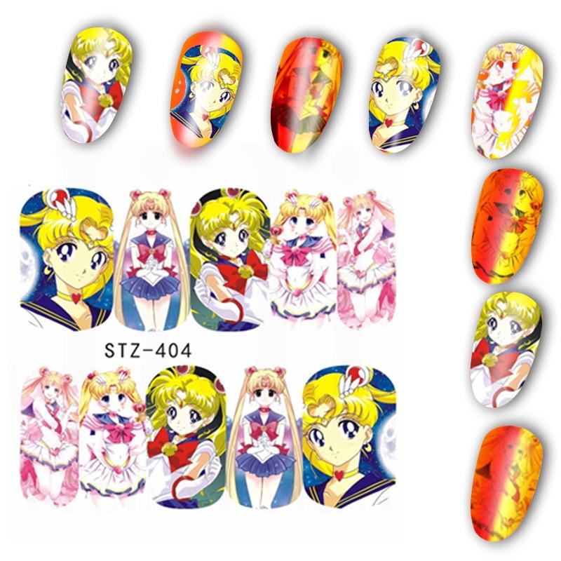 Aliexpress Buy 1pc Sailor Moon Nail Art Water Decals Tsukino