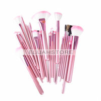 22pcs Set Professional Makeup Cosmetic Brush Kit Set Makeup Tools Nylon Hair Brushes With Pink Roll