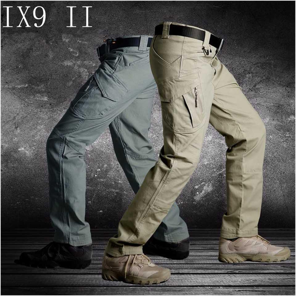 Tad IX9 (Ii) mannen Militar Tactische Cargo Outdoor Broek Combat Swat Army Training Militaire Broek Sport Broek Voor Wandelen Jacht