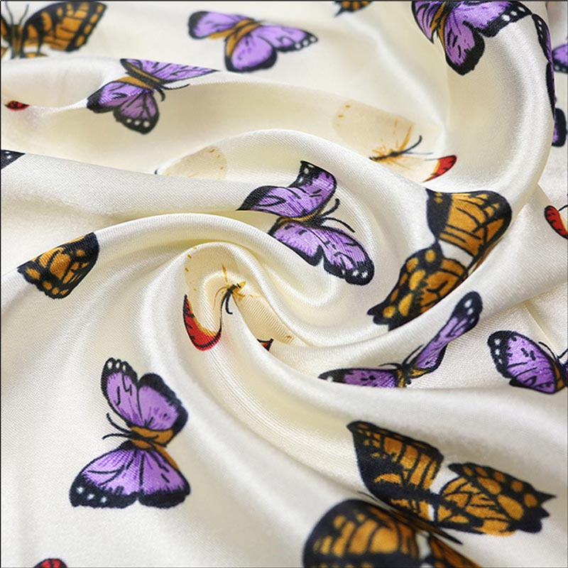HTB1g1qCvr5YBuNjSspoq6zeNFXaT - Scarves for Women Fashion Digital Printing Simulation Silk Scarf for Ladies Customize Butterfly Vintage Small Square Scarf