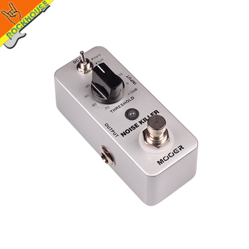 MOOER Noise Killer Noise Gate Guitar Effects Pedal to Reduces the extra noise 2 Modes: Hard and Soft True Bypass Free Shipping mooer mod factory modulation guitar effects pedal true bypass with free connector and footswitch topper
