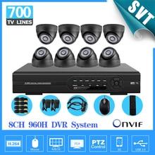 Home 8CH CCTV Security Camera System 8CH full 960H D1 DVR 700TVL indoor Camera DIY Kit Color Video Surveillance System SK-147