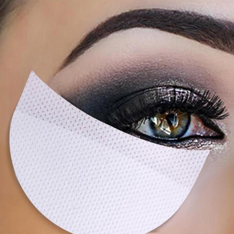 Hot! 100pcs Eyeshadow Shields Under Eye Patches Disposable Eye Shadow Makeup Protector Stickers Pads Eyes Makeup Application