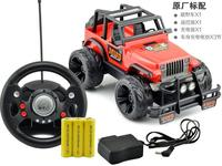 Charging Children Toy Rock Crawlers Driving Car Remote Control Car Steering Wheel Hummer Off Road Racing