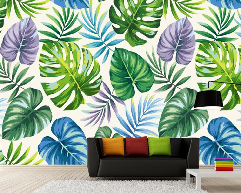 US $8 85 OFF Beibehang Modern Simple Aesthetic Wallpaper Tropical Rain Forest Plant Banana Leaf Pastoral Murals Backdrop Wall 3d Wallpaper 3d