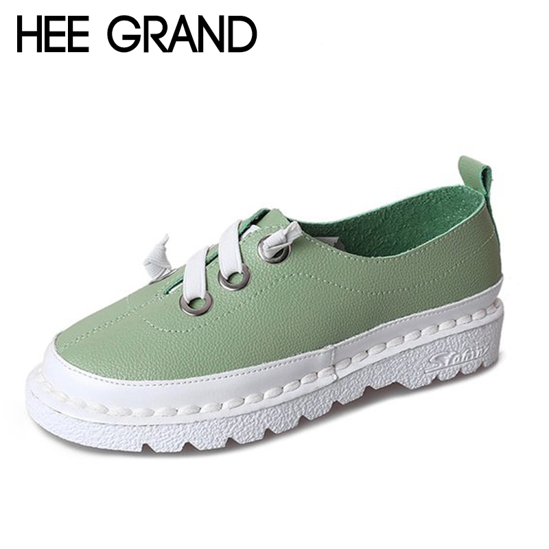 HEE GRAND 2018 New Women Flats Bowknot Decoration Women Causal Fashion with Platform Spring Women Soft Bottom Shoes XWD6546