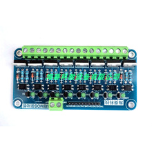 8-channel mos tube module,single-chip PLC amplification field effect tube,optocoupler isolation eight-way mos tube driver boar 0 24v top mosfet button irf520 mos driver module