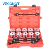 24Pcs Press and Pull Sleeve Kit For Extracting Drawing Silent Hydraulic Ball Rubber Beaings Shaft Seals