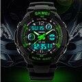 Skmei s choque mens reloj deportivo reloj de cuarzo de los hombres relojes militares led digital analógico dual time relojes de pulsera relogio masculino