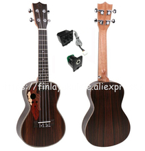 "Finlay 24 ""ukulele, Listrik ukulele Wtih Grape Lubang Suara, Full Rosewood top / body hawaii guitars, FU-24ME, konser ukelele guitarra"