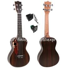"""Ukulélé Finlay 24 """", Ukulele électrique Wtih Grape Sound Hole, Guitare hawaii haut / corps en palissandre, FU-24ME, guitare guitare ukulélé"""
