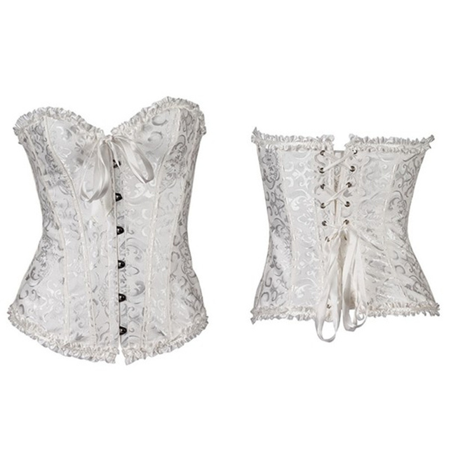 Lace Up Corset Bustier