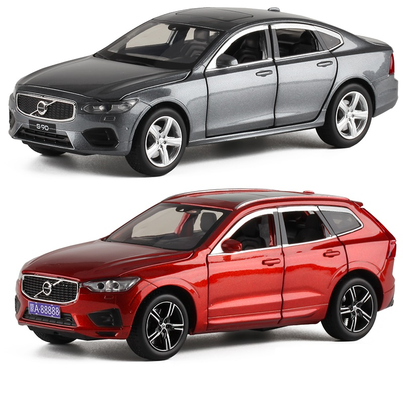 1:32 Volvo XC60 Off-road Vehicle S90 Diecast Car Model Sedan Adult Simulation Pull Back Car Model Toy Ornaments
