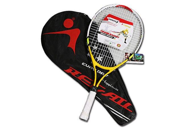1 pièces raquette de Tennis dentraînement pour adolescents raquette en alliage daluminium avec sac pour enfants nouveaux débutants avec sac de transport gratuit