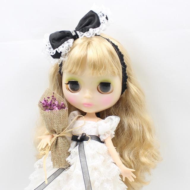 Neo Blythe Doll Wedding Dress With Bow